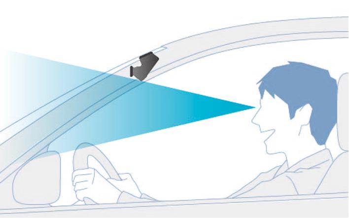 スマートな取付が可能な新形状の本体デザイン(ND-DVR40)