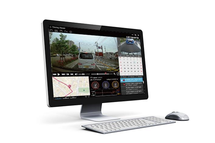 パソコン用ビューアーソフト「Driving Viewer」(無料)に対応
