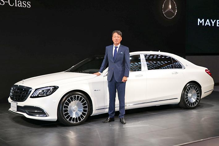Mercedes-Maybach S560 4MATIC(ダイヤモンドホワイト)/メルセデス・ベンツ日本 上野金太郎 代表取締役社長