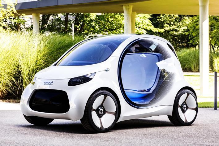 完全自動運転のEVコンセプトカー「スマートEQフォーツー」