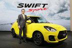 スズキ 新型スイスポ世界初公開!鈴木社長「誰もがスポーツドライビングを楽しめるモデルに仕上がった」【フランクフルトショー2017】