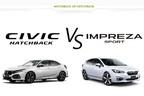 ホンダ 新型シビック vs スバル インプレッサスポーツ どっちが買い!?|人気の国産ハッチバックを徹底比較。