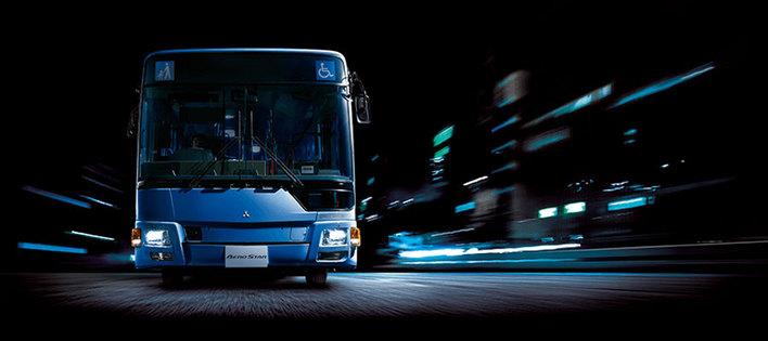 三菱ふそう 大型路線バス「エアロスター」2017年モデル