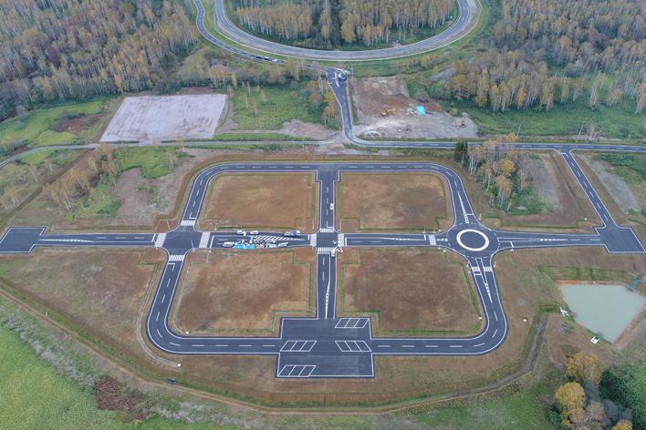 スバル 美深試験場の高度運転支援技術テストコース
