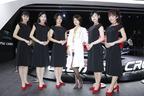 赤いハイヒールにすらっと伸びた美脚が眩しいっ!三菱ブース コンパニオン【東京モーターショー2017】