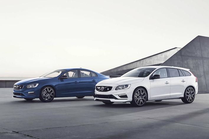 左:S60ポールスター 右:V60ポールスターファイナルモデル