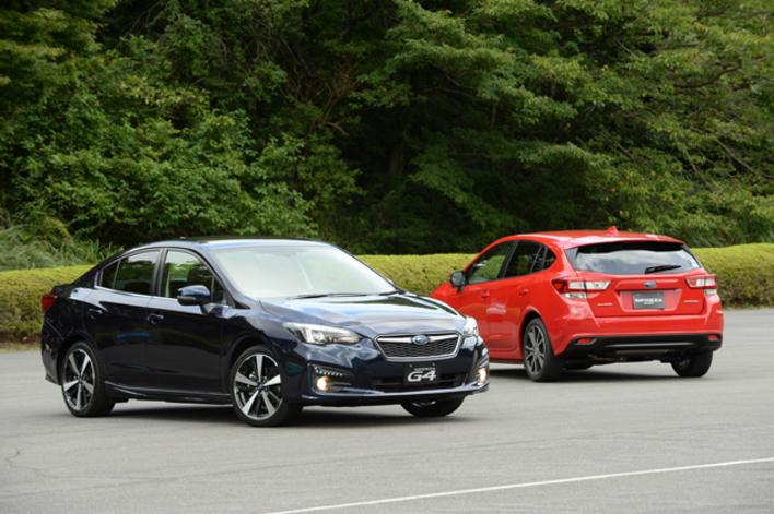 スバル 新型インプレッサ G4と新型インプレッサ スポーツ