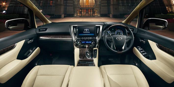 トヨタ 新型アルファード ハイブリッド エグゼクティブラウンジ(7人乗り・E-Four)内装色:フラクセン