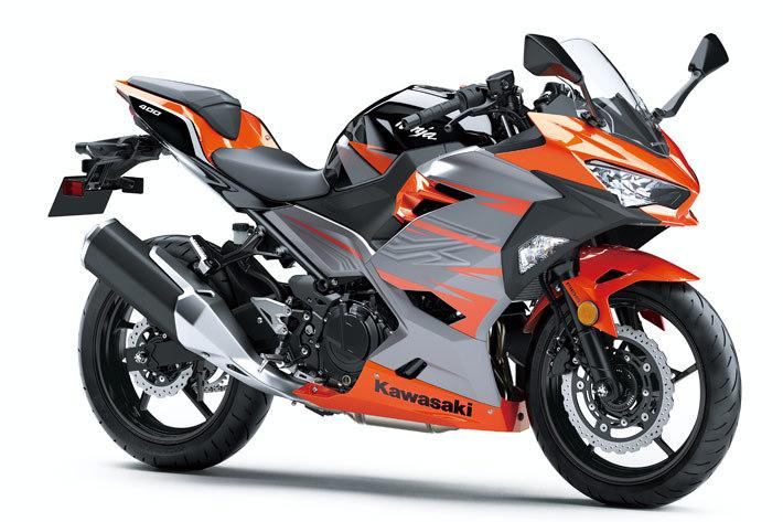 カワサキ 新型 Ninja 400/キャンディバーントオレンジ×メタリックマグネティックグレー