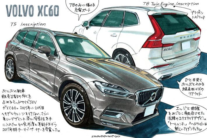 ボルボ XC60(Illust:遠藤イヅル)