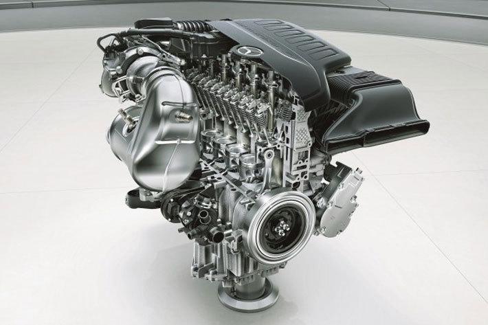 メルセデス・ベンツ 新型S450に搭載される、最高出力270kW(367PS)/5500-6100rpm、最大トルク500Nm(51.0kgm)/1600-4000rpmを発生する直列6気筒DOHC 3.0リッター直噴ターボエンジン「M256」型