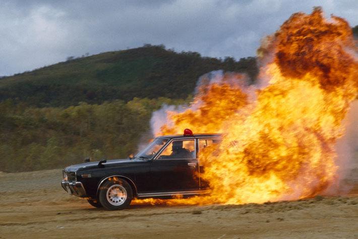 車の炎上で思い浮かぶドラマ「西部警察」!? 毎回良く燃えていました  【製作著作:株式会社石原プロモーション】