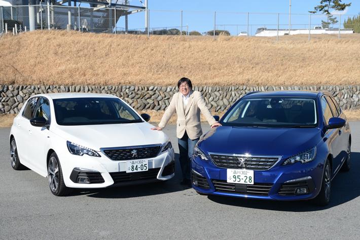 (左)プジョー 308 GT BlueHDi (右)308 SW Allure BlueHDi