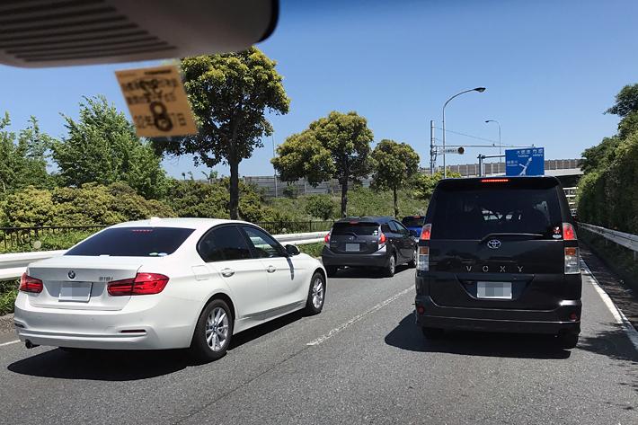 下道チーム/東京湾岸道路・国道357号線 花見川に差し掛かったあたりで、3回目の渋滞に遭遇